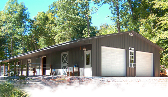 Post frame pole barn homes blitz builders for Pole barns tennessee